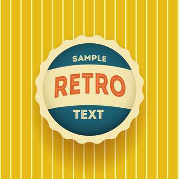 Vector round shaped retro label on yellow background with text place - vector gratuit #127259
