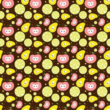 colorful illustration of tasty fruit background - vector gratuit #127269