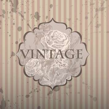 vintage frame with floral pattern and text place - vector gratuit #127349