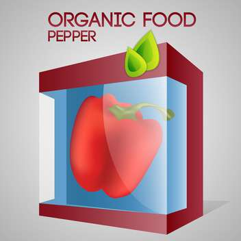 Vector illustration of red pepper in packaged for organic food concept - vector gratuit #127379