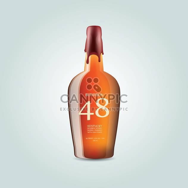 Whiskey bourbon bottle on white background - Free vector #127429