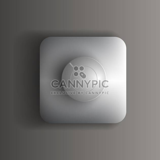 Vector round shaped switch button on grey background - Free vector #127479