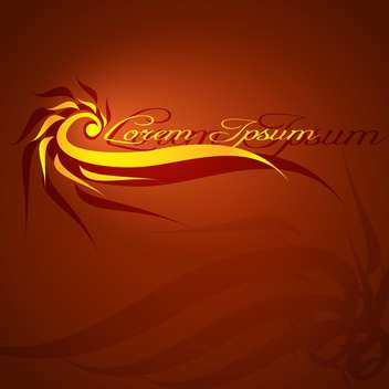 Abstract brown background with flame and text place - vector #127529 gratis