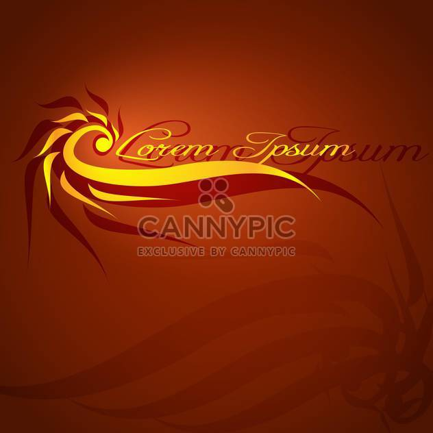 Abstract brown background with flame and text place - Free vector #127529
