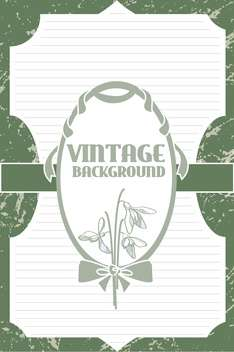 Vector vintage background with art flowers - vector #127669 gratis
