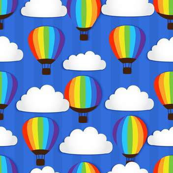 Vector illustration of hot air balloons in sky - Free vector #127689