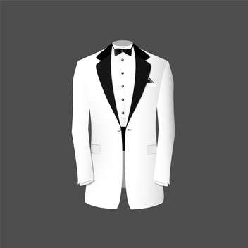 Vector illustration of white tuxedo on grey background - vector #127729 gratis