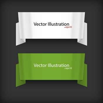 vector set of two ribbons on black background with text place - vector gratuit #127769