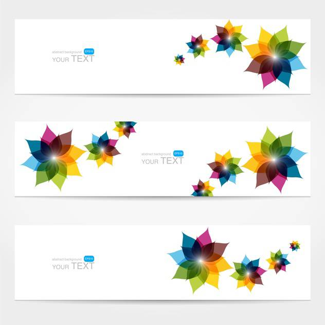 vector collection of floral colorful banners - vector gratuit #127779