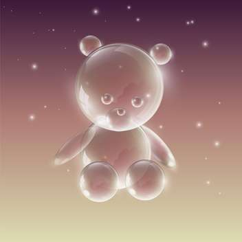 Bear made of water drops on bright background - бесплатный vector #127889