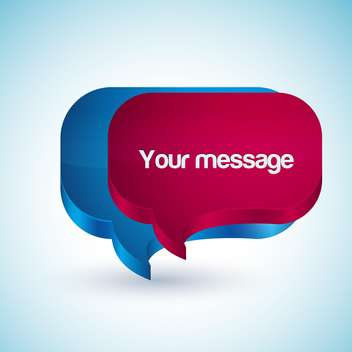 scribble your message in speech bubbles - vector gratuit #127919