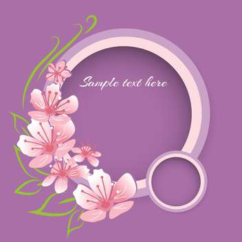 Vector background with pink spring flowers on violet background - vector gratuit #127939