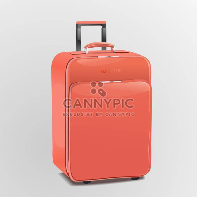 Vector red travel suitcase, isolated on white background - Free vector #128179