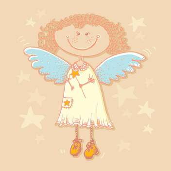 Holy angel and stars background - vector gratuit #128219