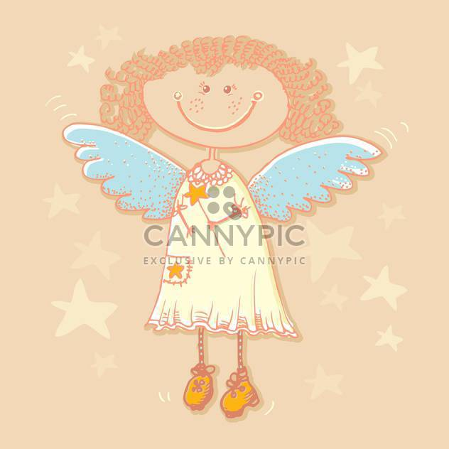Holy angel and stars background - Free vector #128219