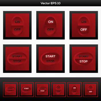 Web on and off buttons, vector illustration - Free vector #128229