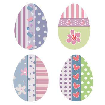 Set with four Easter eggs vector icons - vector #128319 gratis