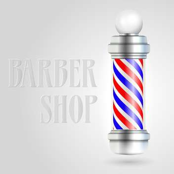 Barber shop pole with red and blue stripes - бесплатный vector #128379