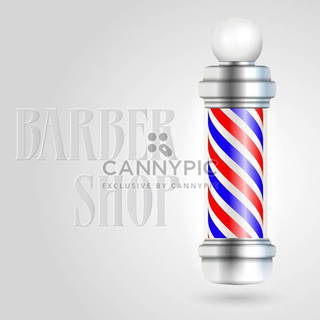 Barber shop pole with red and blue stripes - Free vector #128379
