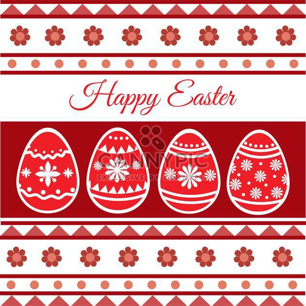 Vector illustration of Happy Easter Card - Free vector #128409