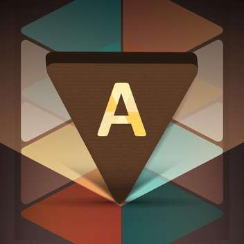 Vector icon with letter A in triangle. - vector gratuit #128429