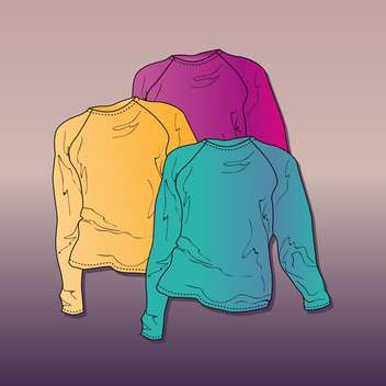 Vector illustration of women's sweaters. - Free vector #128459