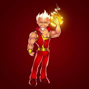 Vector illustration of cartoon man full of electric lightning - Kostenloses vector #128469