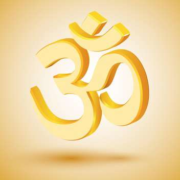 Vector illustration of golden om symbol - vector #128499 gratis