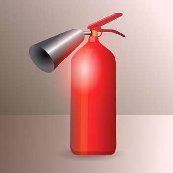 Vector illustration of red glossy fire extinguisher - vector #128549 gratis