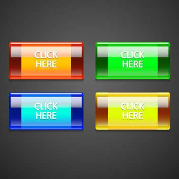 Vector set of colorful buttons. - vector gratuit #128559