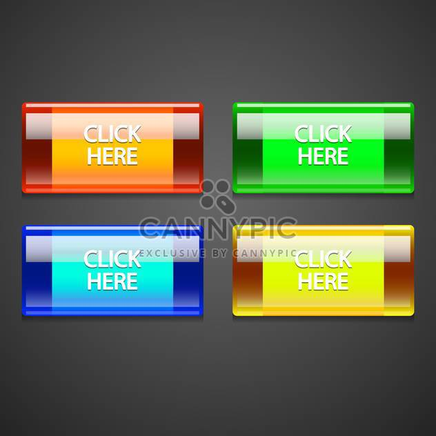 Vector set of colorful buttons. - Free vector #128559