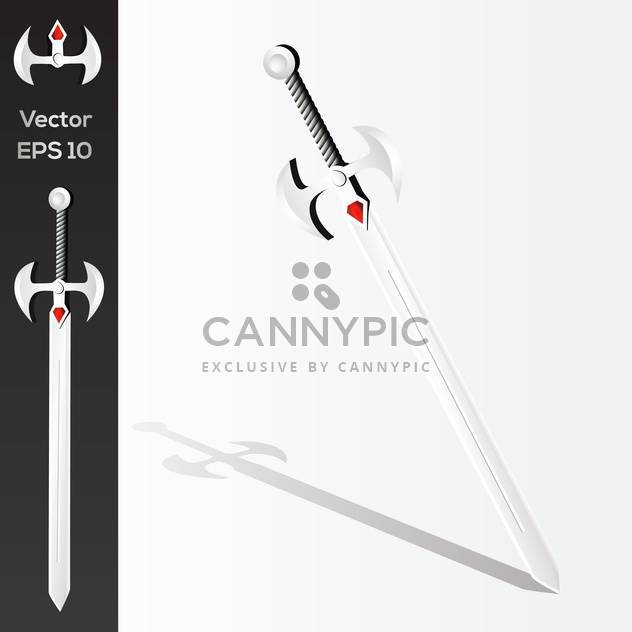 Vector illustration of medieval sword - Free vector #128619
