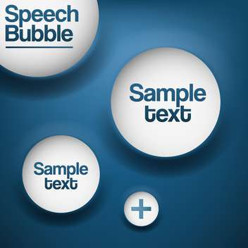 Abstract background with white speech bubbles. - vector #128729 gratis