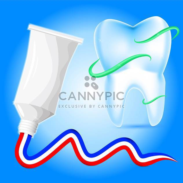 Vector illustration of tooth protection with toothpaste - Free vector #128819