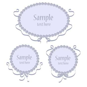 Set of blue vector greeting frames - Free vector #128849