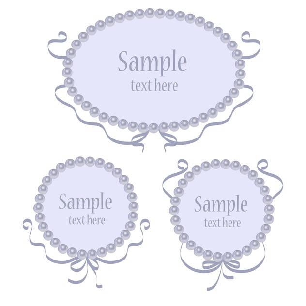 Set of blue vector greeting frames - vector gratuit #128849