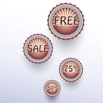 Set of vector sale labels on white background - vector #128879 gratis
