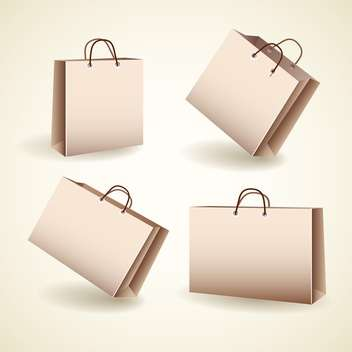 Vector set of four shopping bags - vector gratuit #128949