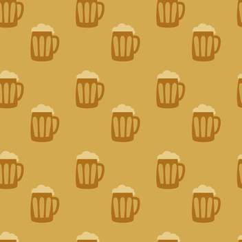 beer mugs seamless background - vector gratuit #128989