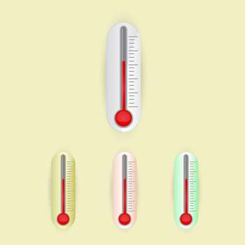 illustration of vector thermometers set - vector gratuit #128999