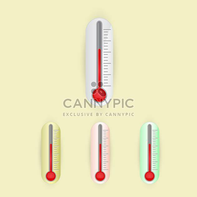 illustration of vector thermometers set - Free vector #128999