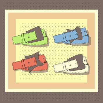 vector set of leather belts - vector gratuit #129029
