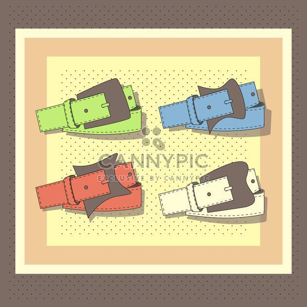 vector set of leather belts - Free vector #129029