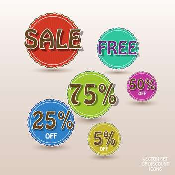 set of vector shopping sale labels - vector gratuit #129039