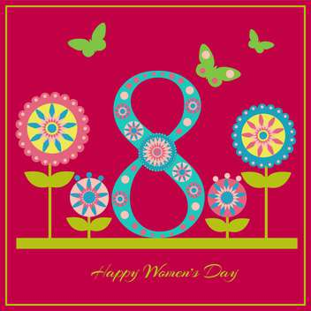happy women's day greeting card - vector gratuit #129089