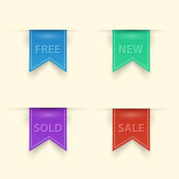 colorful shopping sale badges collection - Free vector #129099