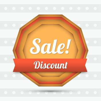 discount vector sale label - vector gratuit #129109