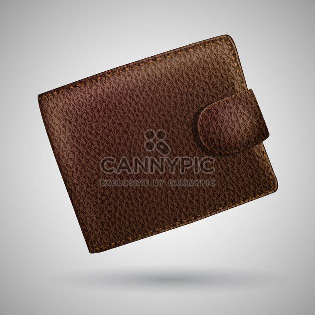 leather wallet vector illustration - vector #129159 gratis