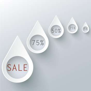set of vector shopping sale labels - vector gratuit #129169