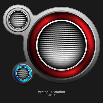 abstract loudspeaker metallic background - бесплатный vector #129189
